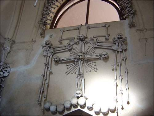 Shangrala's Chapel With Human Bone Art