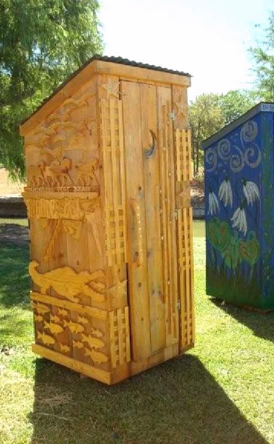 Shangrala's Texas Outhouse Art