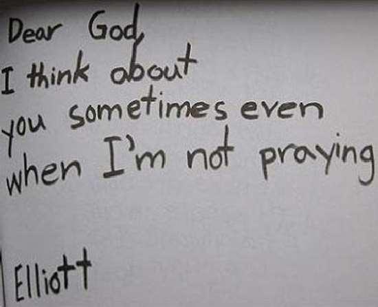Shangrala's Notes To God