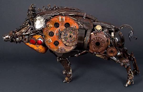 Shangrala's Junk Car Parts Art!
