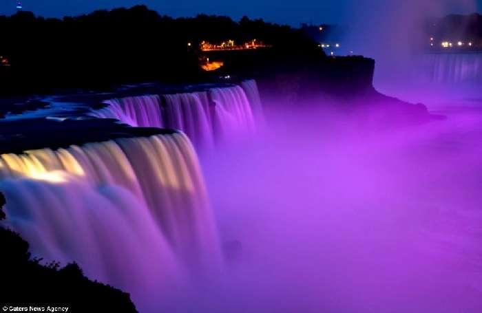 Shangrala's Niagara Falls In Neon