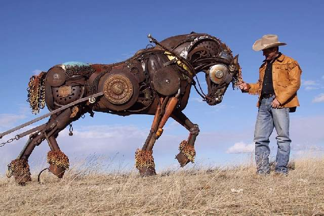 Shangrala's Western Scrap Metal Art