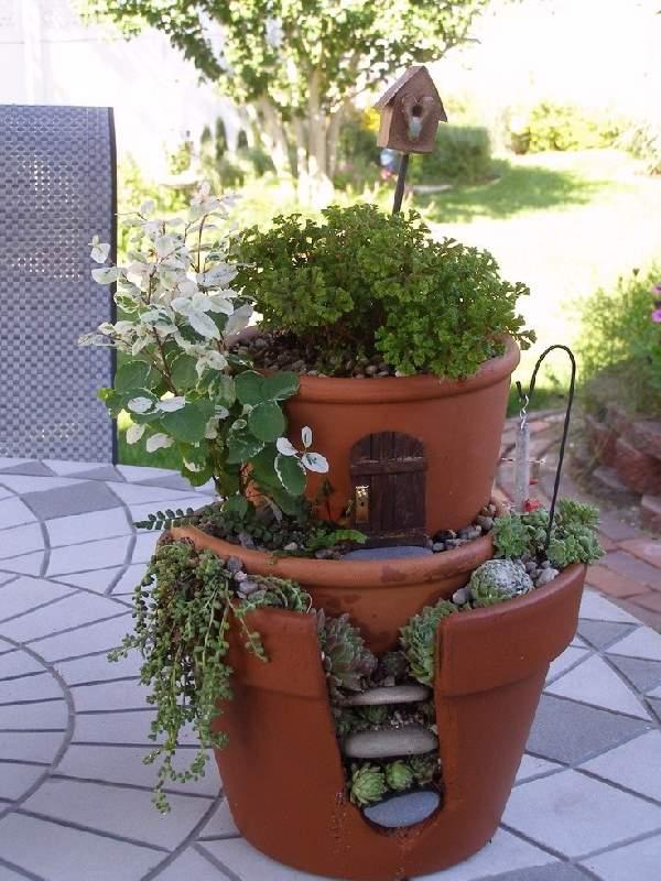 Shangrala's Fairy Garden Pot Art 2