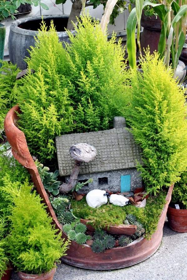 Shangrala's Fairy Garden Pot Art