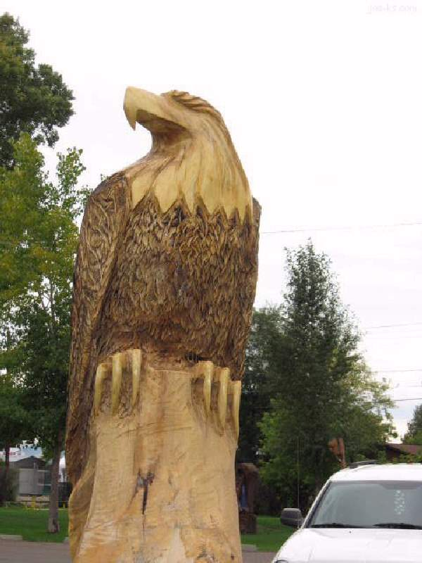 Shangrala's Chainsaw Wood Carving Art 2