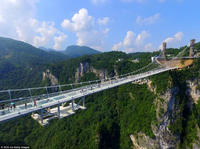Shangrala's World's Longest Glass Bridge