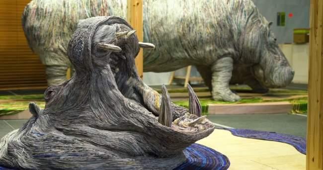 Shangrala's Newspaper Sculpture Art