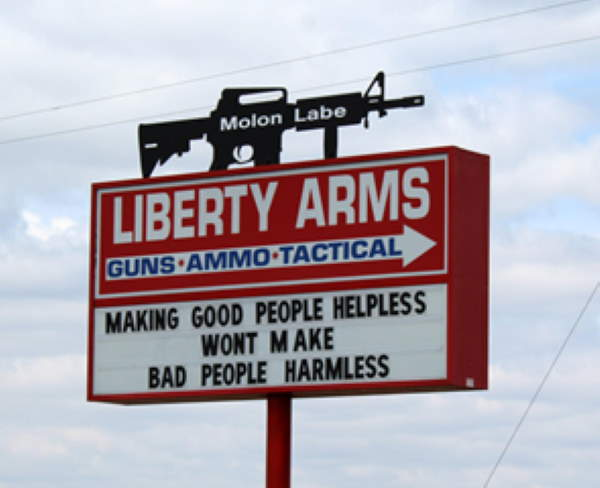 Shangrala's Funny Liberty Arms Signs