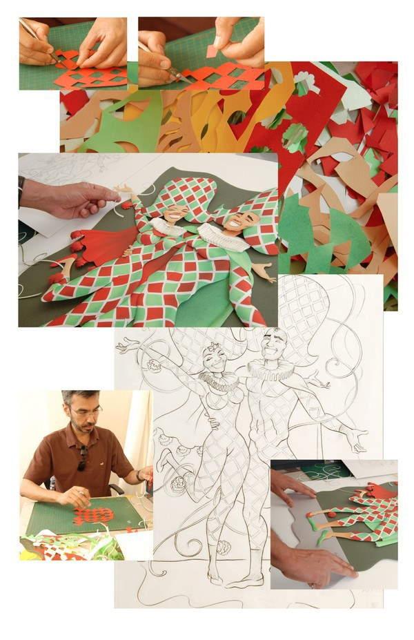 Shangrala's Carnival Paper Sculptures