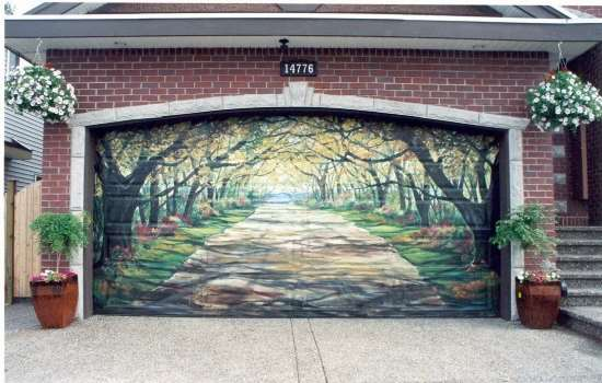 shangralafamilyfun - shangrala's garage door art