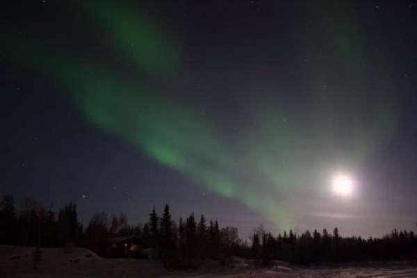 Northern lights tee pee