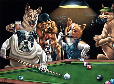 Dogs Playing Cards Wallpaper Supersize Dogs Playing Poker