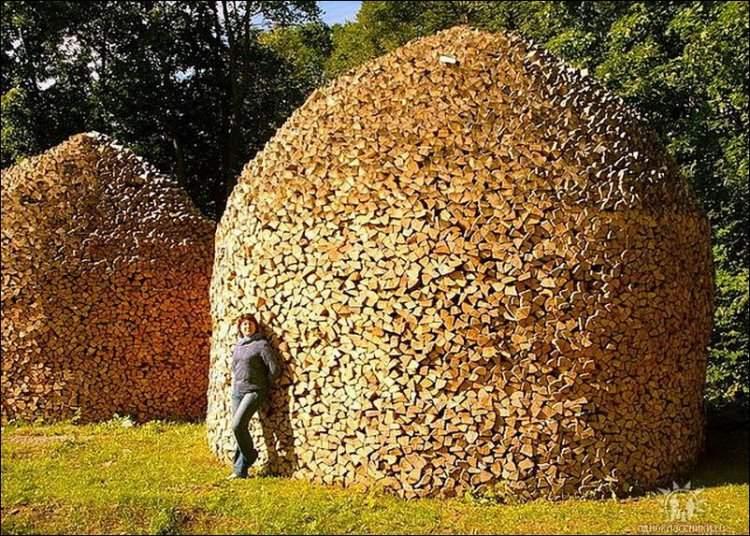 firewood stacking art 2