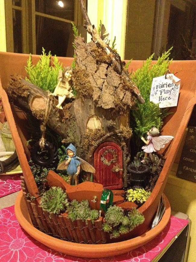 Shangrala 39 S Fairy Garden Pot Art
