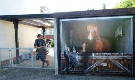 garage door artShangralaFamilyFuncom  Shangralas Garage Door Art 2