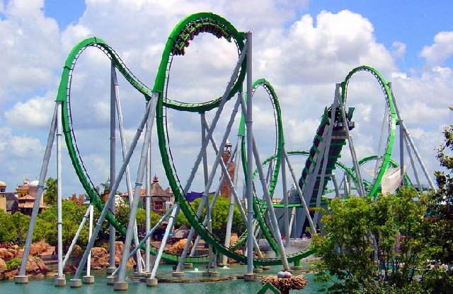 the hulk roller coaster